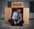 Failed businessman on the street Royalty Free Stock Photo