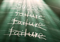 Failure to success conceptual words on blackboard Stock Images