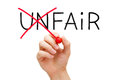 Fair Not Unfair Royalty Free Stock Photo
