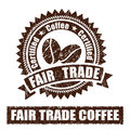 Fair Trade Coffee Rubber Stamp Royalty Free Stock Photo