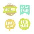Fair trade hand drawn badges.