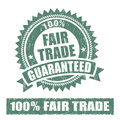 Fair Trade Rubber Stamp Royalty Free Stock Photo
