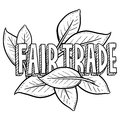 Fair trade sketch Stock Photos