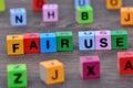 Fair use words on table