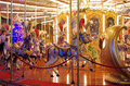 Fairground Carousel by night Royalty Free Stock Photo