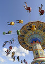 Fairground Carousel Spinning Round Stock Photography