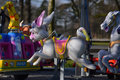 Fairground ride carousel bunny rabbit a Stock Images