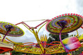 Fairground ride carousel at a county fair Royalty Free Stock Photo