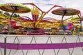 Fairground ride carousel at a county fair Stock Photography
