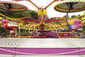 Fairground ride carousel at a county fair Royalty Free Stock Photography