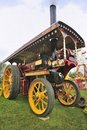 Fairground traction engine built around s this steam powered was used for towing rides round the country once parked up the Stock Photo