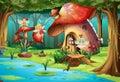 Fairies Flying Around Mushroom...