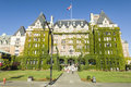 The fairmont empress hotel victoria canada is located at inner harbour of british columbia capital city Stock Photos