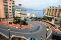 Fairmont Hairpin or Loews Curve, a famous section of the Monaco Royalty Free Stock Photo