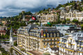 Fairmont le montreux palace hotel may a five star luxury built in containing rooms and suites at the swiss riviera Stock Photo