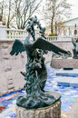 Fairy bird sculpture in moscow bronze russia Stock Photography
