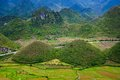 Fairy bosom is located in tam son town quan ba district ha giang province vietnam in september colorful fields a unique landsc Stock Images