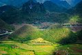 Fairy bosom is located in Tam Son town, Quan Ba District, Ha Giang Province, Vietnam. In September Colorful fields a unique landsc Royalty Free Stock Photo