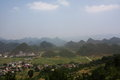 Fairy Bosom Mountains and Rice Paddy Terraces in Northern Vietnam Royalty Free Stock Photo