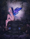 Fairy butterfly Royalty Free Stock Photo