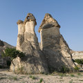 Fairy Chimneys In Cappadocia, Turkey Stock Photo