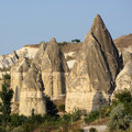 Fairy Chimneys In Cappadocia, Turkey Stock Image