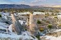 Fairy chimneys near Urgup in Cappadocia. Turkey Royalty Free Stock Photo
