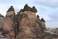 Fairy chimneys in zelve in cappadokia turkey Royalty Free Stock Images