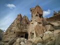Fairy Chimneys in Zelve Valley at Cappadocia, Turkey