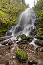 Fairy Falls in Columbia River Gorge in Spring