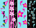Fairy Floral Web Banner Templates Royalty Free Stock Image