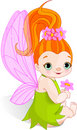 Fairy with Flower Royalty Free Stock Photo