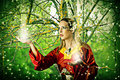 Fairy in forest Royalty Free Stock Images
