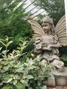 Fairy garden angel Royalty Free Stock Photo