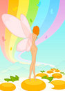 Fairy - girl with butterfly wings Stock Image