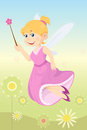Fairy girl a vector illustration of a beautiful Royalty Free Stock Photography