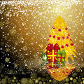 Fairy golden christmas tree Royalty Free Stock Photography