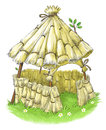 Fairy house from Three Little Pigs fairy tale Royalty Free Stock Photo