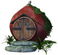 Fairy house with vines and fern d render of a Royalty Free Stock Photos