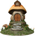 Fairy house with yellow flowers Royalty Free Stock Photo