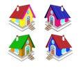 Fairy houses for your creativity . Vector illustration