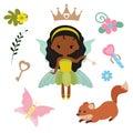 Fairy with magic design elements