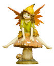 Fairy on mushroom Stock Photo