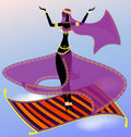 Fairy oriental dancer Royalty Free Stock Photo