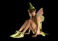 Fairy with pointed cap d cg graphics of a charming and butterfly wings Royalty Free Stock Photos