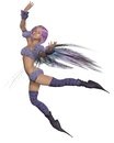 Fairy in Purple Stock Image