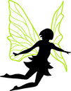 Fairy Silhouette Illustration Stock Photography
