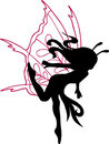 Fairy Silhouette Illustration Royalty Free Stock Photo