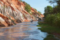 Fairy stream canyon mui ne vietnam red river between rocks and jungle Stock Images