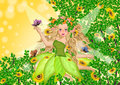 Fairy on summer time Royalty Free Stock Photo